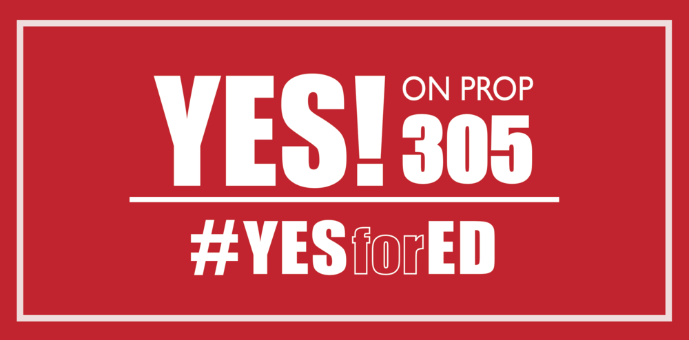 Yes Prop 305 AZ Yes for Ed Bumper Sticker