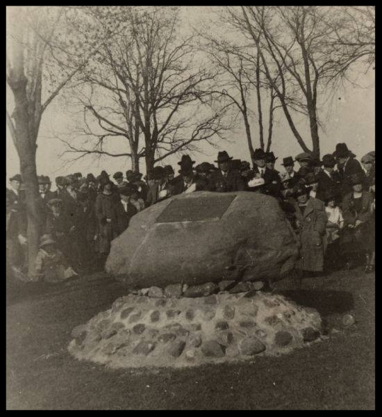 Allouez Marker Dedication in Menominee Park - 1920