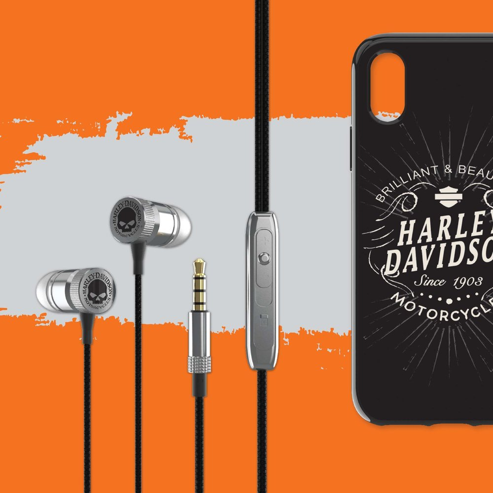 Harley-Davidson® High Definition Earbuds & VENTURE Phone Case for iPhone X
