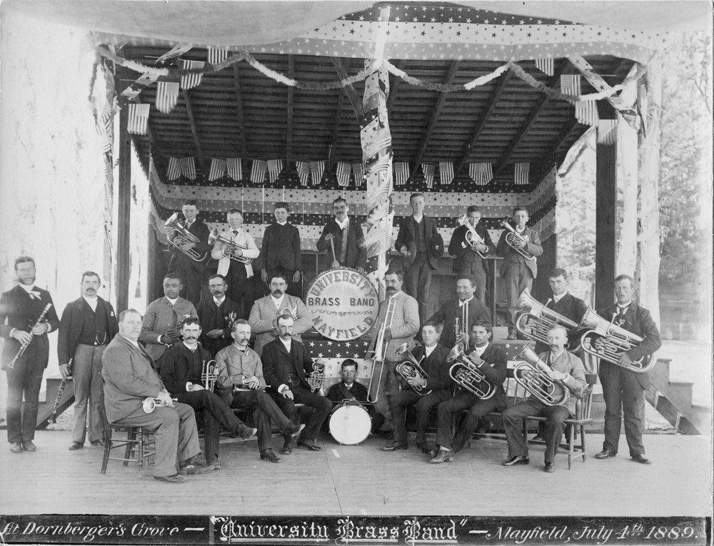 University Brass Band, Mayfield, 1889