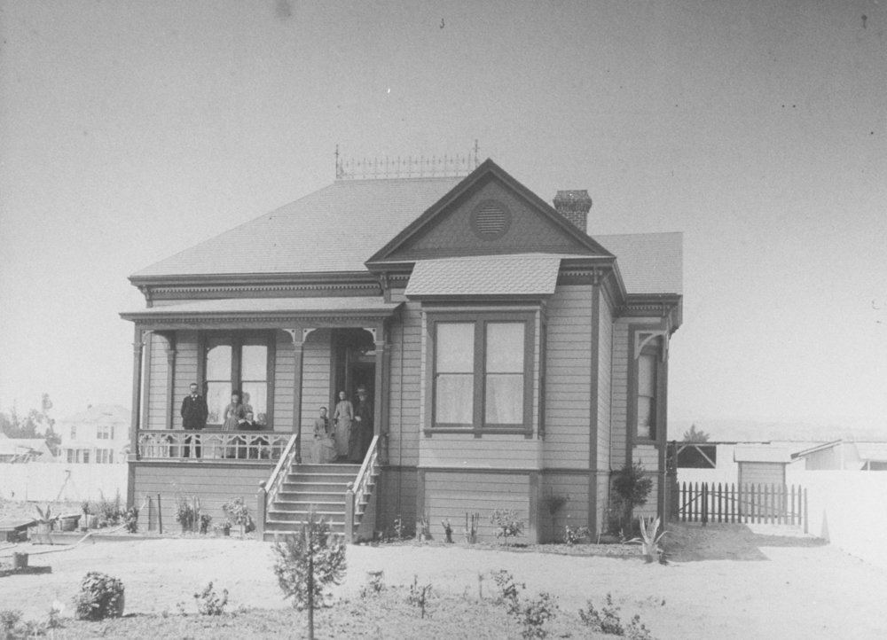 A home on Main Street (now El Camino Real), Mayfield 1889