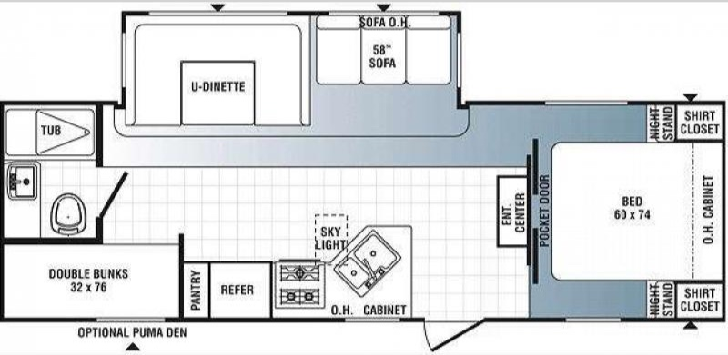 This is the layout of our camper!