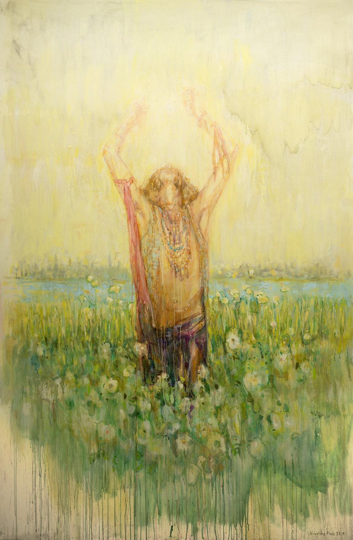 Séraphine Pick,  Easy Living II , 2015. Oil on linen. Image courtesy of the artist.