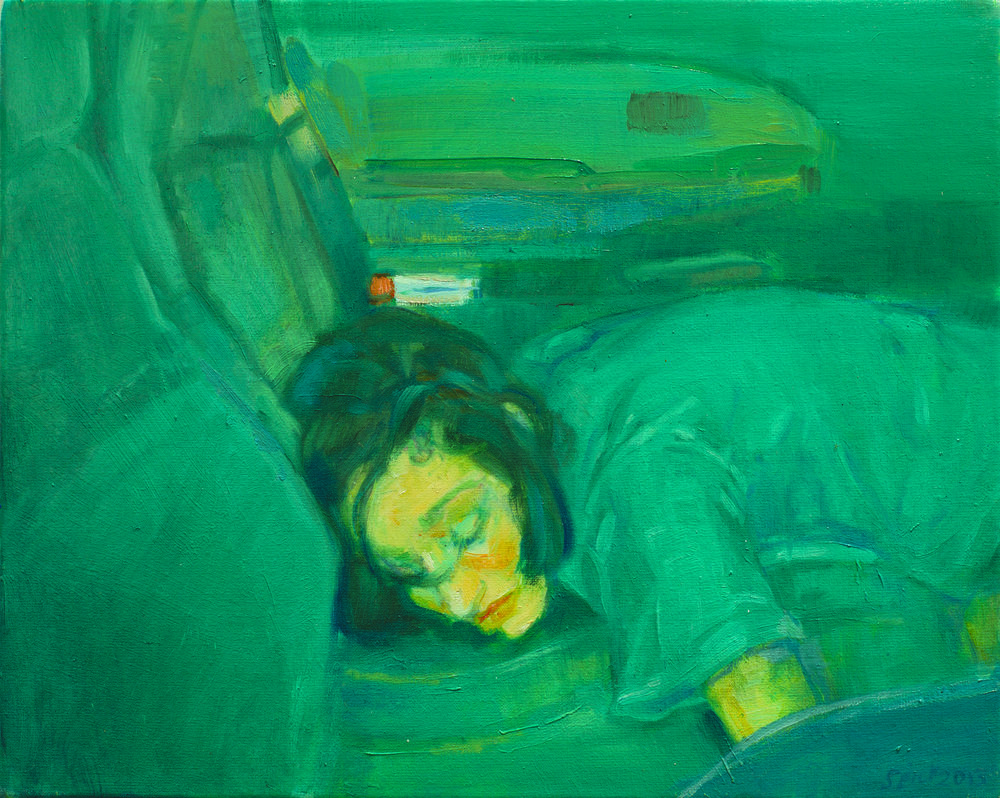 Séraphine Pick,  Back Seat,  2013. Oil on canvas. Image courtesy of the artist.