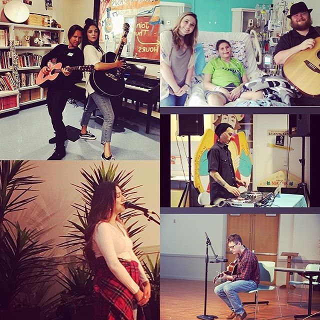 From our founder, Jake McKim: June was an amazing month for @ampurroom and the healing power of music. Thank you @theofficialhannahkay, @shreyasings, @mohawkstevedttw & @lukelevenson for bringing your magical talents to patients at @texaschildrens in Houston. Also shout out to @chlosubia for helping us launch a new partnership with Children's Hospital Los Angles. And thank you @jakemckim! #musiccanheal #AmpUrRoom #periwinklefoundation #texaschildrenshospital