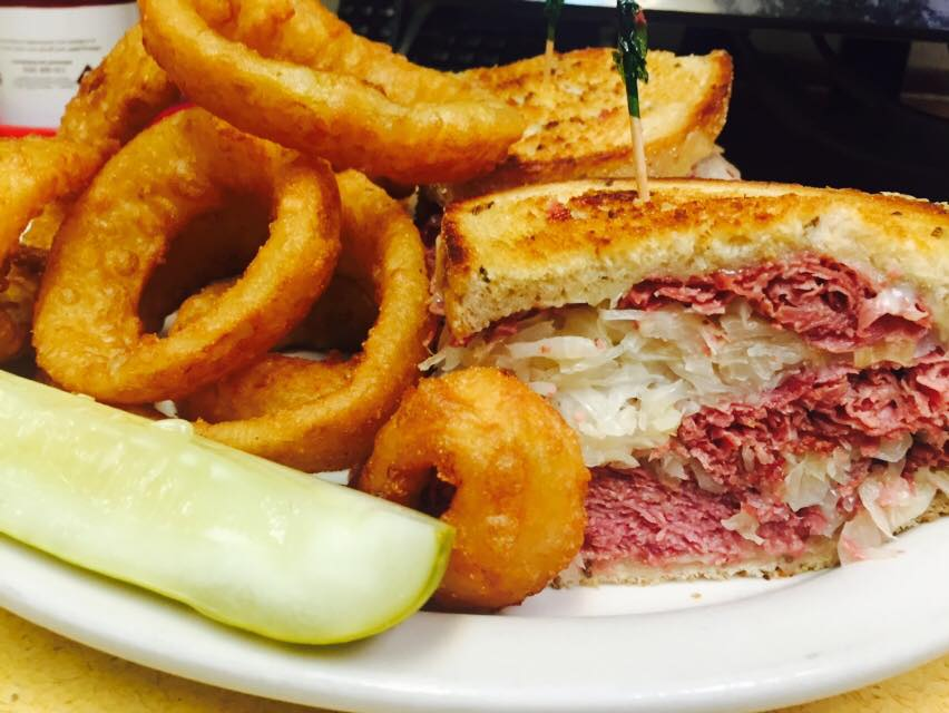 Reuben Classic with Onion Rings
