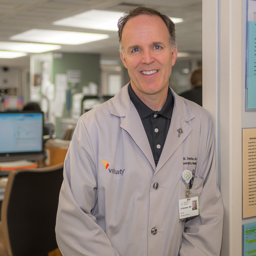 Brian Donahue, MD, FACEP - Residency: University of Illinois, ChicagoMedical School: University of Illinois, ChicagoUndergraduate: University of MichiganHometown: Arlington, ILHobbies: spending time with familyYears at Res: 16