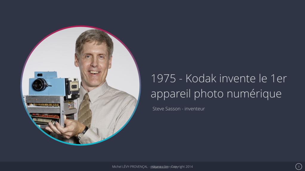 Kodak - 1er appareil photo numérique