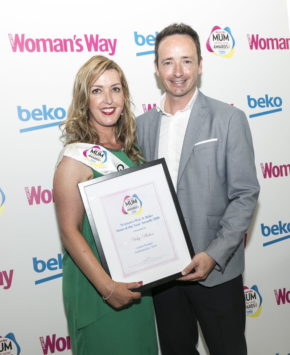 Ian pictured with Gamechanger Ambassador Vicky Phelan