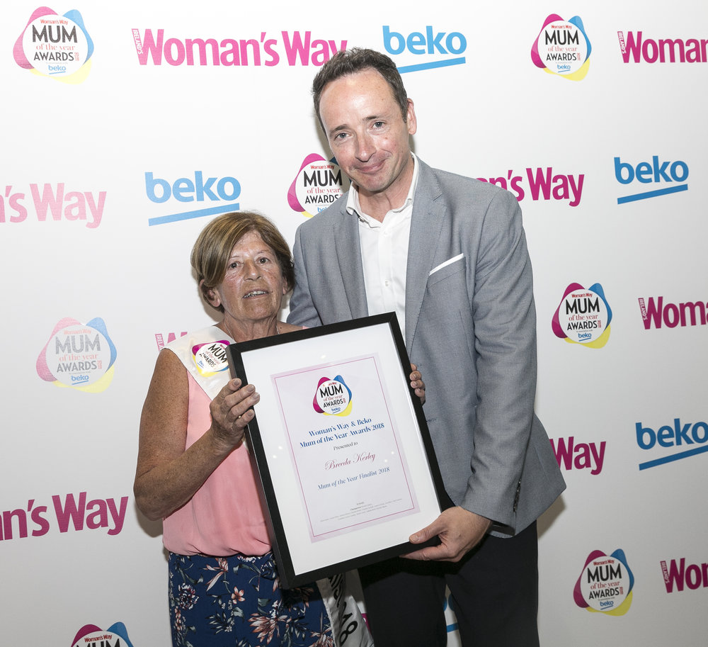 Ian pictured with Mum of the Year Finalist Breeda Kerley