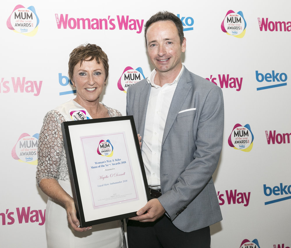 Ian pictured with Local Hero Ambassador Majella O'Donnell