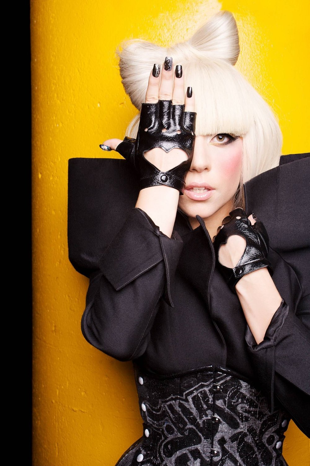 Lady Gaga Wearing Graffiti Corset.jpg