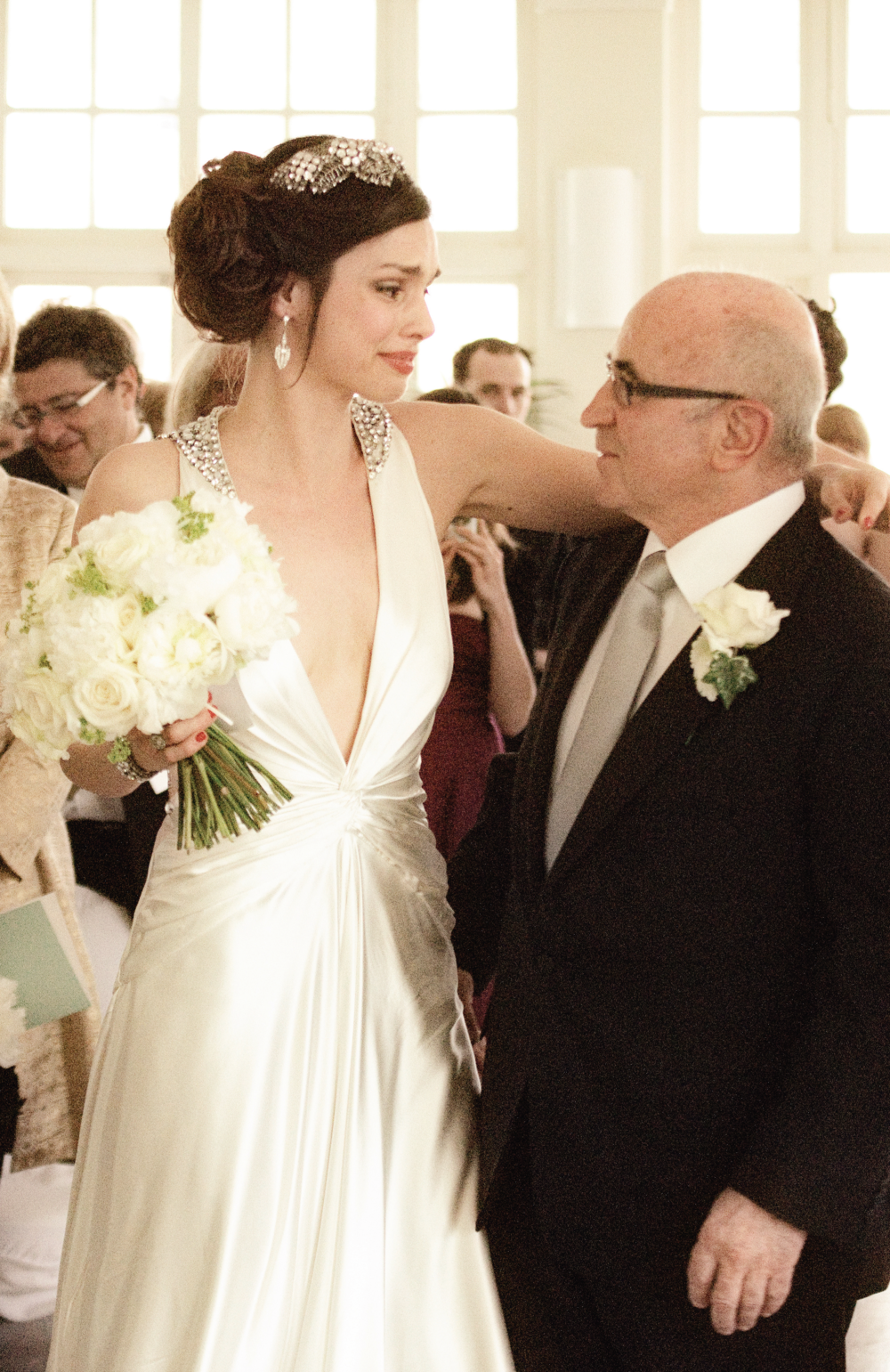 Rosa and her father on her wedding day