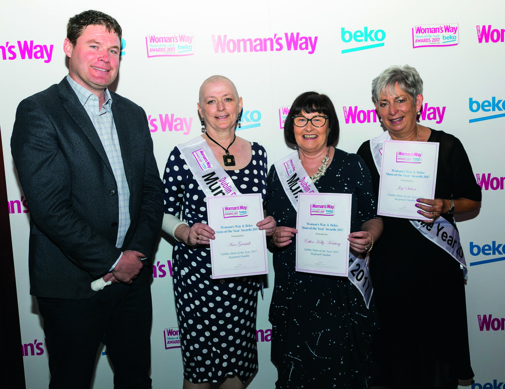 Shane pictured with Ann Grassick, Esther Kelly-Keating and Joy Sutton