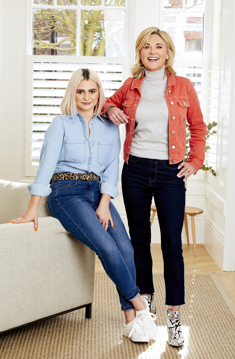 Anthea with stepdaughter Claudia