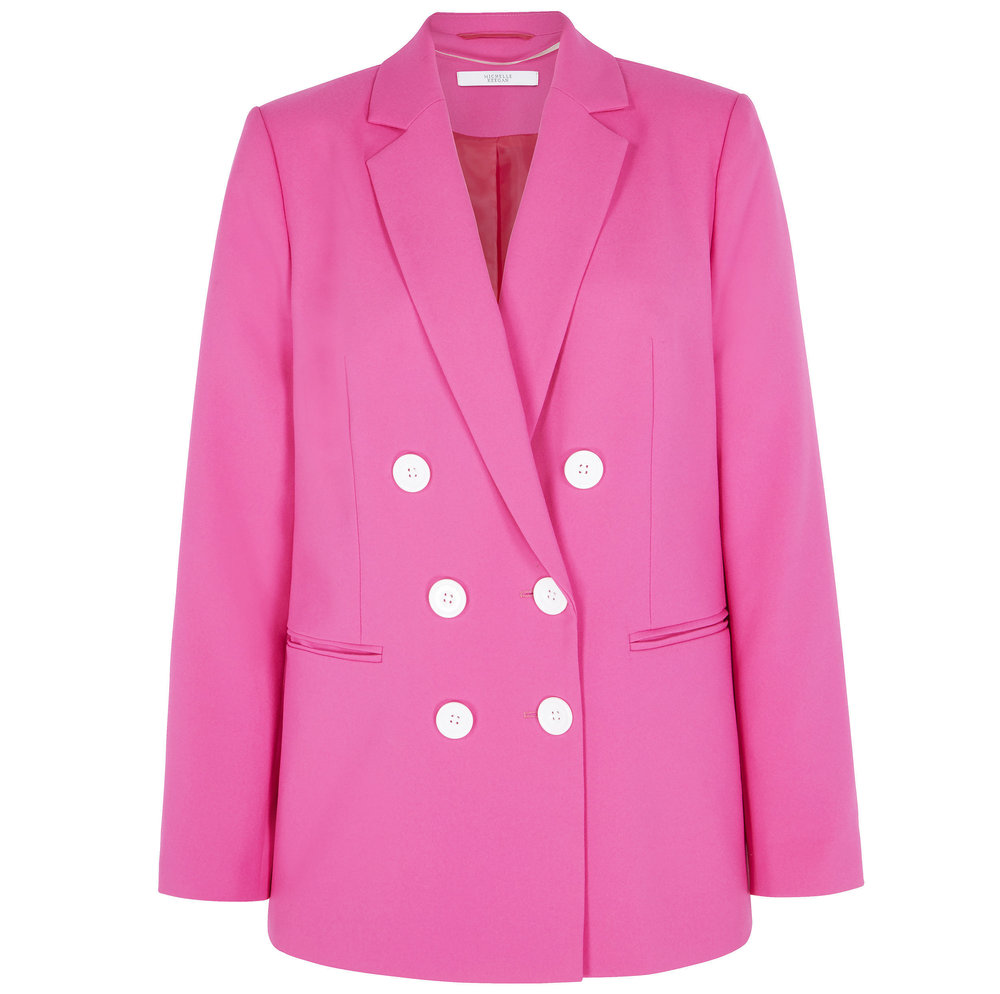2. Very Michelle Keegan Oversized Double Breasted Blazer - Fuchsia, £60