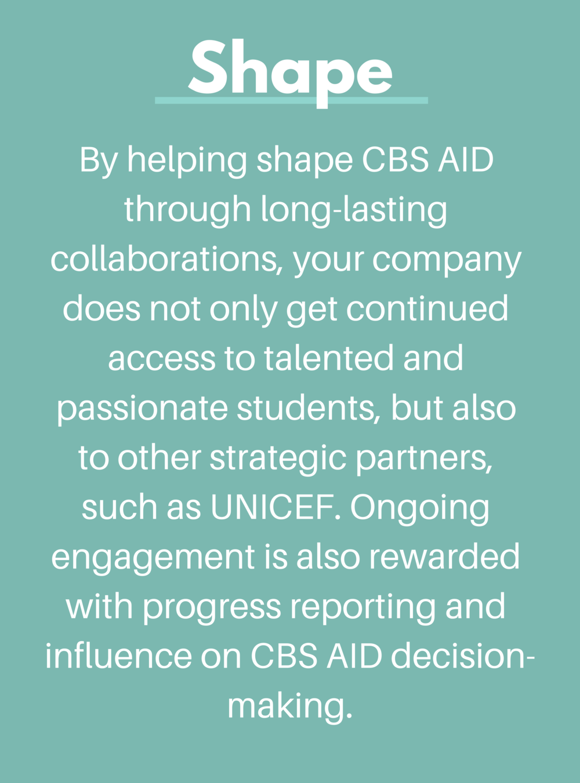CBS AID Shape Partnership