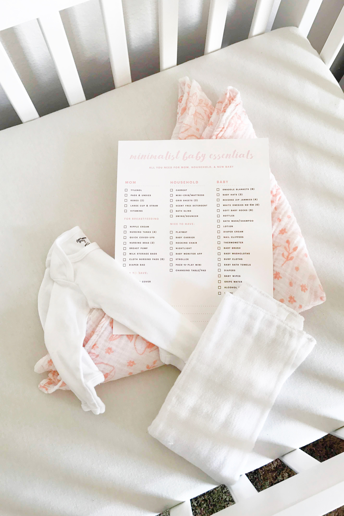 photo relating to Beanie Baby Checklist Printable known as Cost-free printable: Minimalist Boy or girl Basic principles List Hence