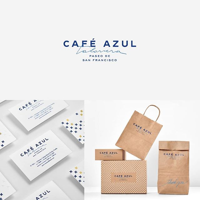 Amazing brand identity developed by @anagramastudio for Cafe Azul Talavera.