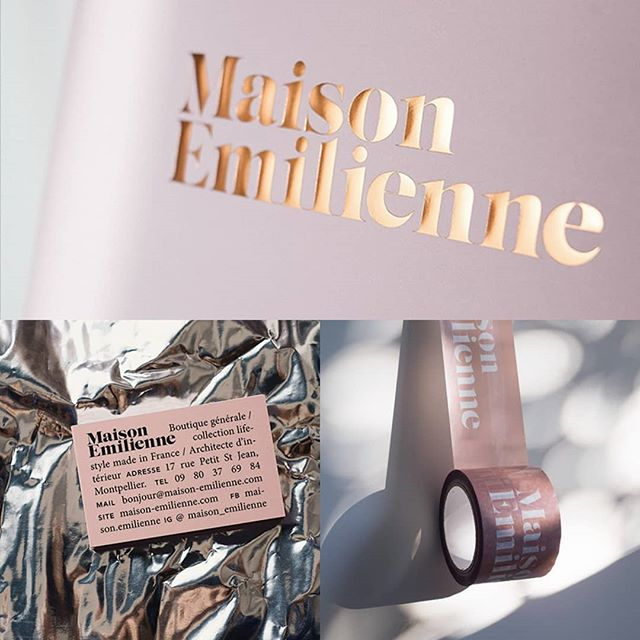 I am so proud to showcase the very talented @rouxrouxroux, designer in the city where it never rains: Montpellier. Here the simple and poetic identity she designed for @maison_emilienne
