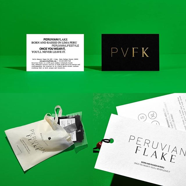 Once again @anagramastudio signs a beautiful identity for @peruvianflake a men and women apparel brand.