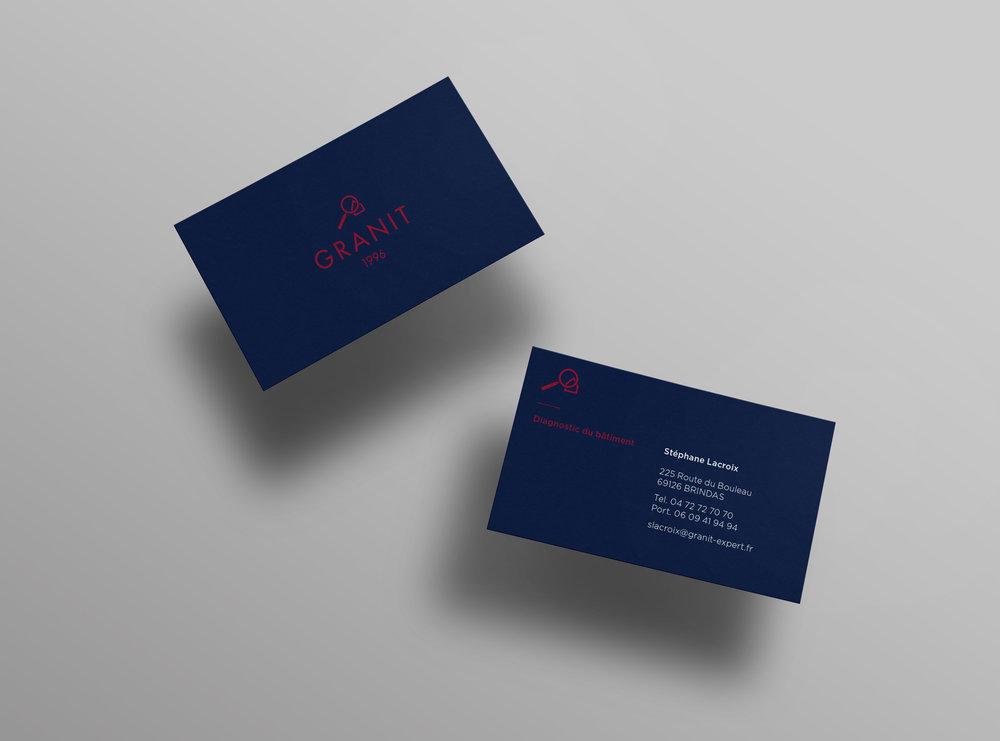 Granit diagnosis business cards designed by Let me brand.jpg