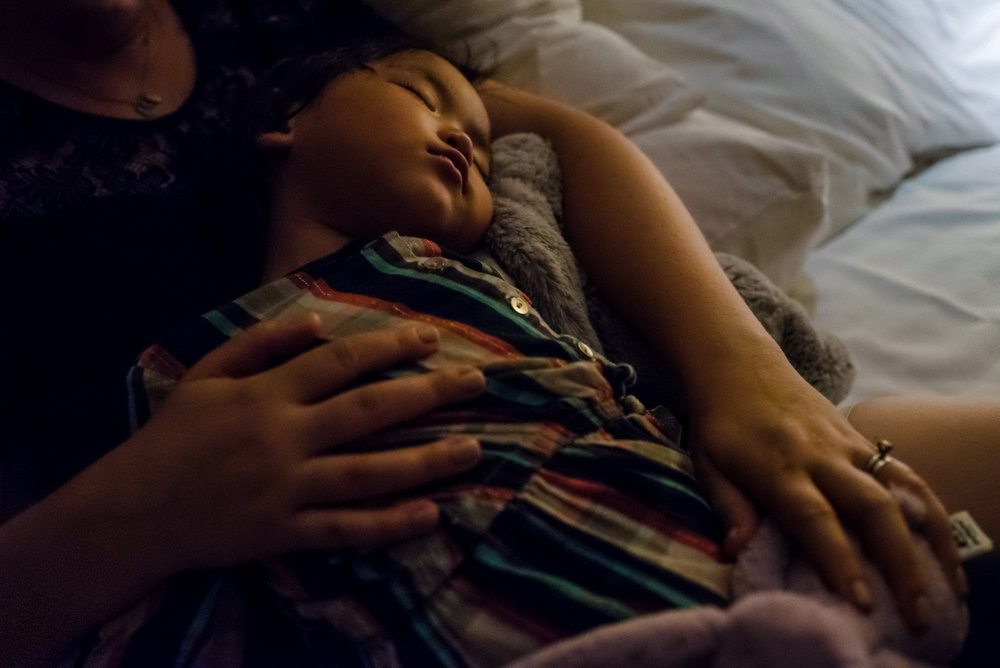 The positive step: being able to relax to sleep in Signe's arms was a welcome sign.