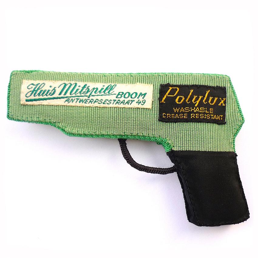Polylux - gros-grain vert & noir, étiquettes de cravates, rembourrage de coton