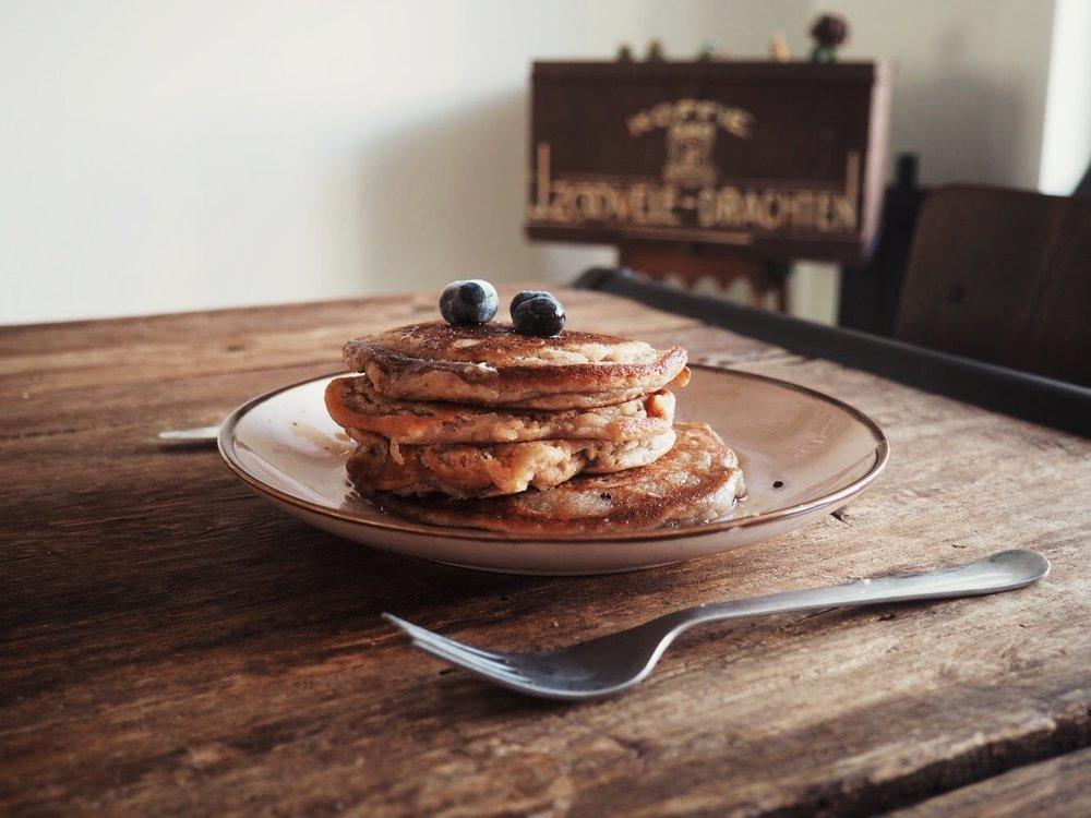 plant-based ricotta pancakes, vegan ricotta pancakes, vegan pancakes, plant-based pancakes