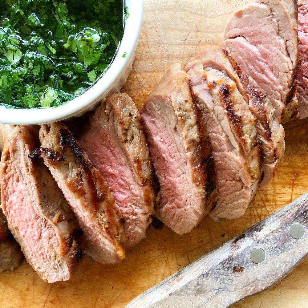 Grilled Pork Tenderloin with Chimichurri