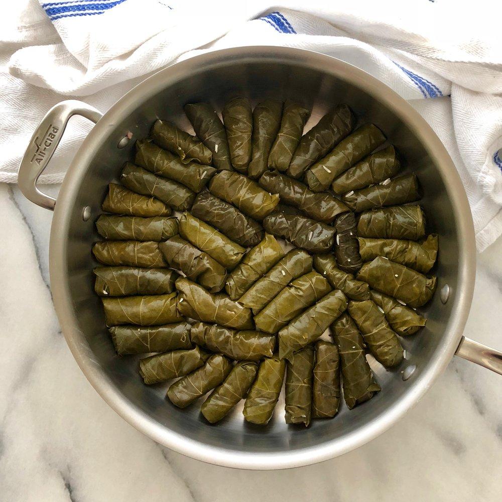 Lebanese Rolled Grape Leaves (Dolmas)