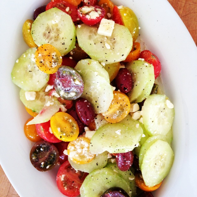Tomato-Cucumber-Feta Salad