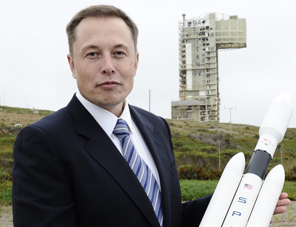 Elon Musk: 43 years-old, worth $12bn, and now colonising space.