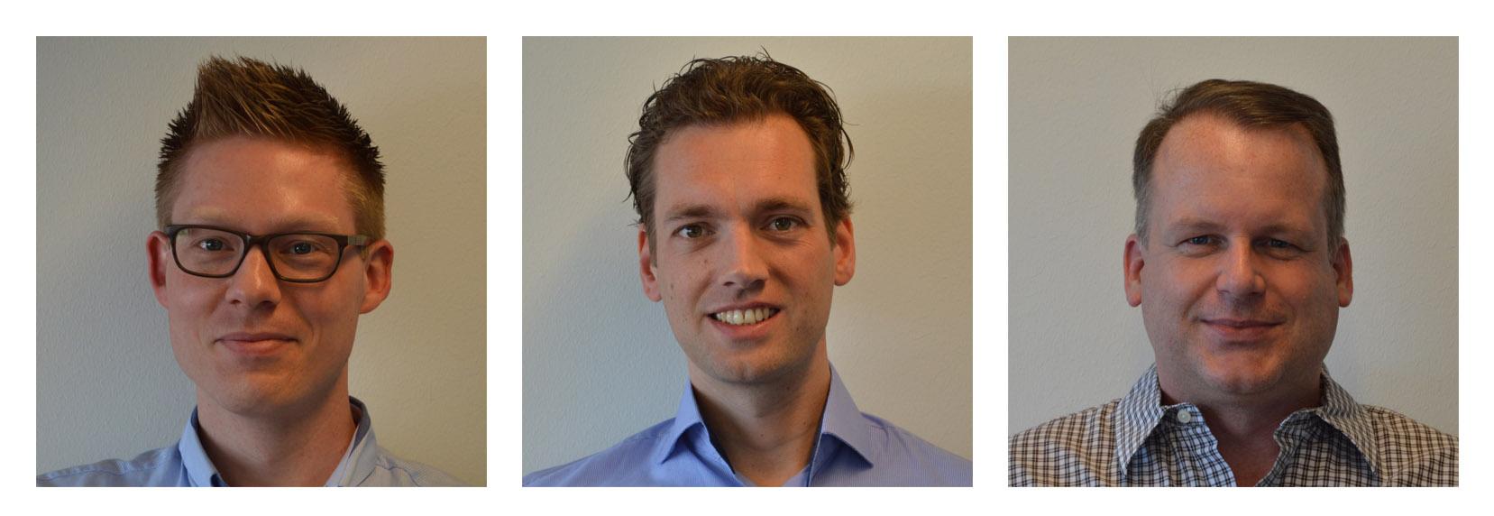 The SPIN remote team (L-R): Arjan van Bremen, Mathijs Vaessen and Ruud de Vaal