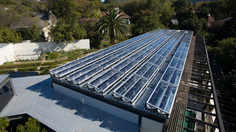De moderne zonnepanelen van Solarus