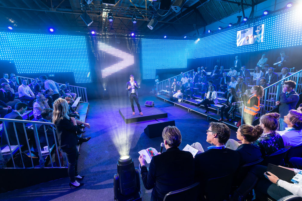 De Investor Stage tijdens de Accenture Innovation Awards finale