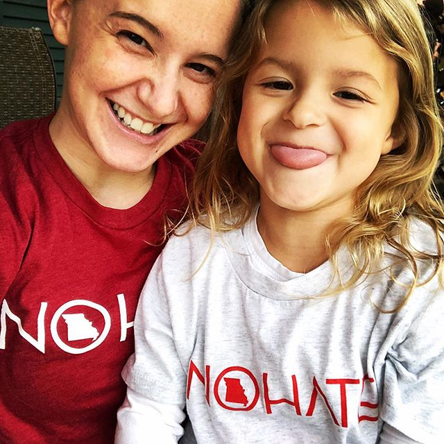 """It's a scary day!! 👻🎃....No, not because it's Halloween, because it's your last chance to get your own """"No Hate"""" MO or IL shirt (and other merch) to celebrate #bullyingpreventionmonth and support CHADS! 😱 You only have a few hours left. Go to local618.com to order!! These shirts are super soft and comfortable, and will make a great gift for the holidays (kids love em too)! #nohate #mentalhealth #bullyingprevention #missouri #illinois"""