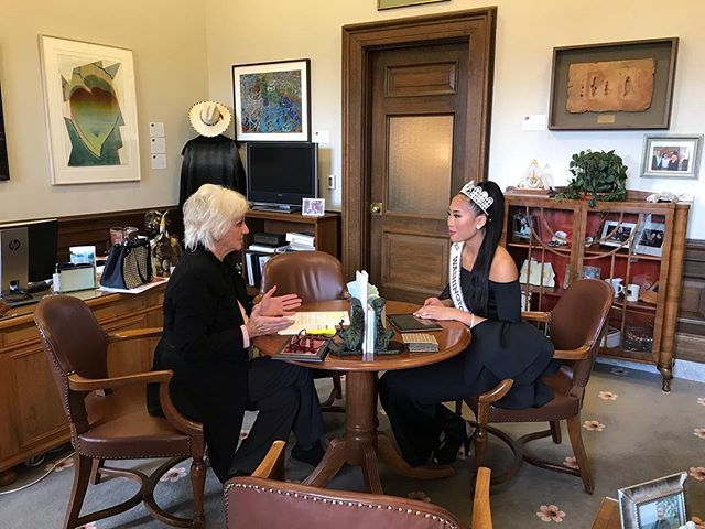 Thank you Senator Randi Becker for meeting with Smize Foundation and hearing our story. She recognized herself that hunger is prevalent in communities, and she supports Smize Foundation. It was so inspiring to be mentored by a woman in leadership of our beautiful state's government!  #volunteer #smizefoundation #capital #empoweringwomen #empower #giveback
