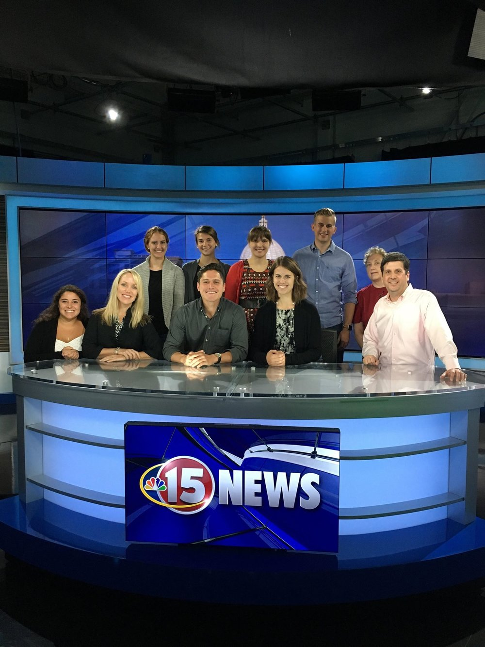 PRSA Madison members on a private tour at NBC15 Madison, 2017.