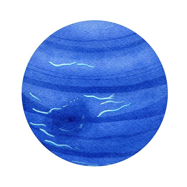 Watercolor Neptune #watercolor #watercolorpainting #art #spaceart #space #neptune #danielsmith #planets