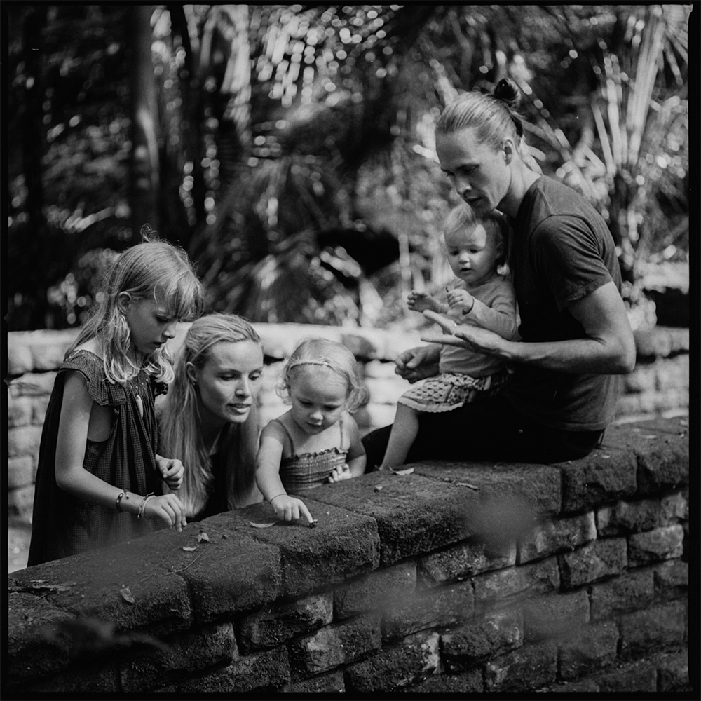 Nutritionist, herbalist and doula  Anna Maria Boelskov , her husband Kalle and their three daughters (L-R) Kieva, Vilja and Mica Sia.  Image:  Mathew Coyte