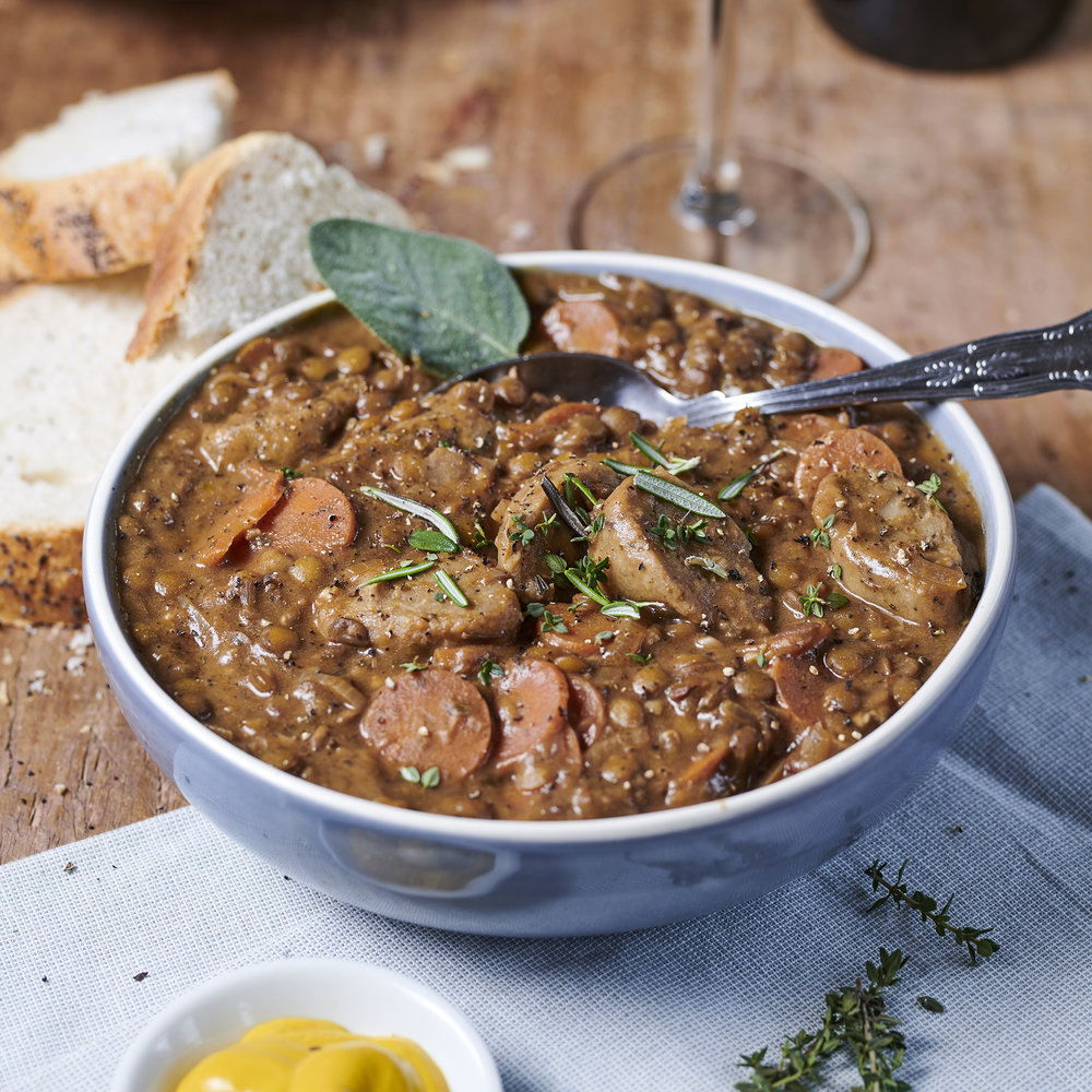 The Brook Red Wine and Vegan Sausage Casserole