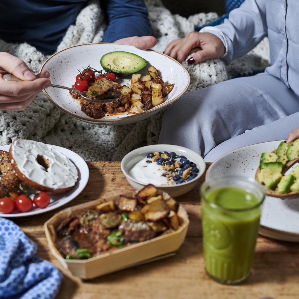 The Brook Breakfast Hotpot - Vegan fry up