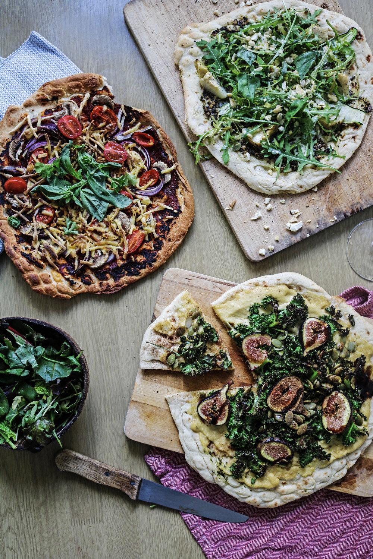 3 easy vegan pizzas