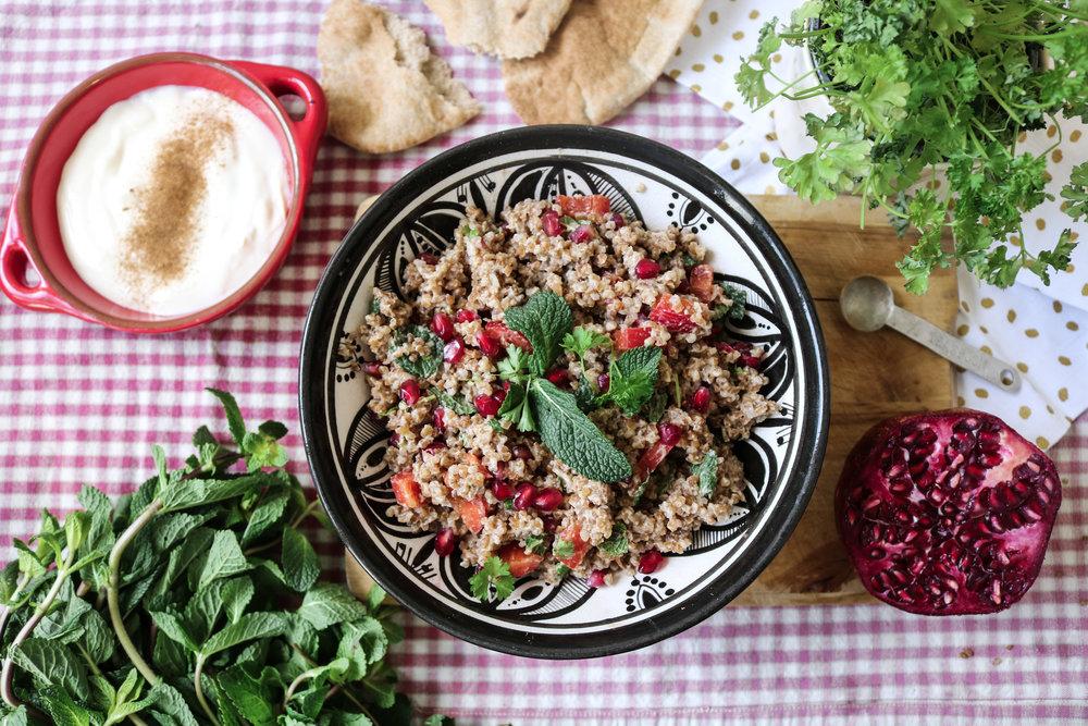 Vegan Moroccan salad