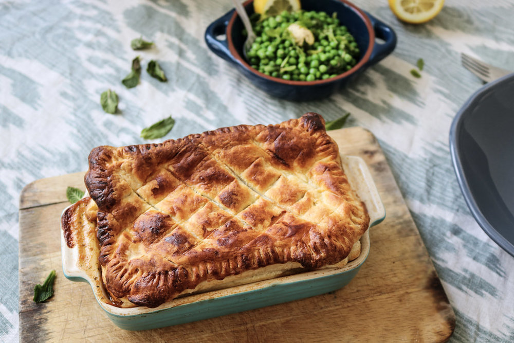 vegan seafood pie