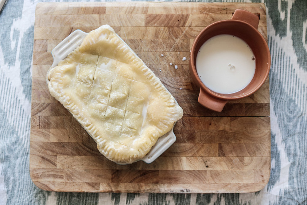 vegan fish pie