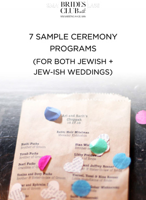 7 x Real Ceremony Programs