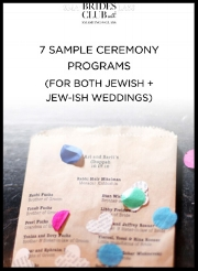 7 x Sample Jewish Wedding Ceremony Programs