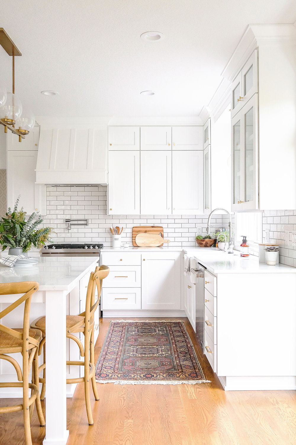 Transitional White Kitchen by Harper Rae Design Co
